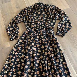Pendleton vintage 90's paisley blouse and skirt